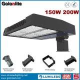 Der Shenzhen-Hersteller Shoebox Beleuchtung-Fabrik-120lm/W Erscheinen-Kasten-Licht Tageslicht-Fotozellen-des Fühler-200W LED