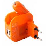 chargeur de véhicule de 2in1 USB avec l'adaptateur usb de mur pour la tablette de téléphone mobile