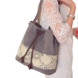 Tendenz-Art-Dame Cotton/Segeltuch-Retro Schultertote-Beutel/Handtaschen-zweifach verwendbarer Beutel