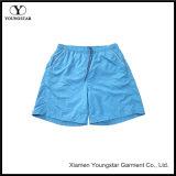 Placa azul Shorts shorts masculinos os troncos de nadar com bolsos refletora