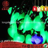 [10م] [100لدس] زخرفيّة خضراء قلب شكل [لد] خيار ضوء لأنّ عيد ميلاد المسيح زخرفة