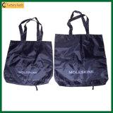 Дешевый складной полиэфир Tote покупкы рекламируя мешок (TP-SP262)