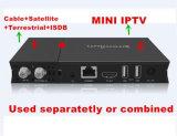 H. 265 Doos van de Ontvanger IPTV van de Tuner van Hevc dVB-S2+DVB-T2/Cable de Hybride Satelliet