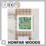 Decorazione di legno della cornice della stampa della tela di canapa di arte della parete del collage