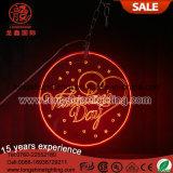 LED, die kundenspezifisches fröhliches rotes Acryllicht des Weihnachten40cm für Valentinsgruß-im Freiendekoration hängt
