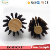 Wood Round Handle Professional Boar Bristle Rolling Hair Brush (JMHF-91)