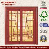 Porta deslizante francesa de madeira Interiror (GSP3-010)