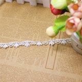 Cordón de nylon de la suposición del recorte del bordado del poliester del cordón de la venta al por mayor el 1.5cm de la fábrica del bordado común de la anchura para el accesorio de la ropa y materias textiles y cortinas caseras