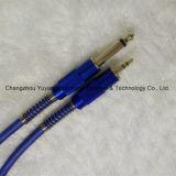 6,35 Моно штекер 3,5 Стереомикрофон Link/гитара/музыки кабель синего цвета щитка приборов