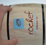 Vaatjes van de Koffie van het Embleem van de douane de Natuurlijke Houten