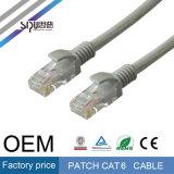 Компьютер двуустки Sipu привязывает шнур кабеля заплаты UTP 24AWG CAT6