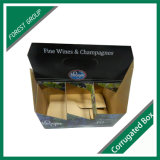Seis Pack portadora de Vinho Caixa de papel com impressão personalizada