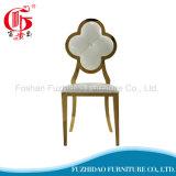Cadeira real do banquete de Dubai do aço inoxidável do ouro do estilo para o hotel