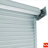 Porte en aluminium bloquée d'obturateur de rouleau isolée par porte spiralée à grande vitesse