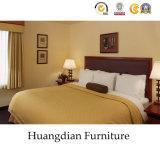 고전적인 디자인 호텔 가구 나무로 되는 침대 룸 가구 (HD411)