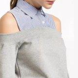 方法女性の縞の綿の一致の包帯の羊毛のストラップレスのTシャツのブラウス