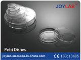 使い捨て可能なペトリ皿、プラスチックまたはガラス材料、透過90mm