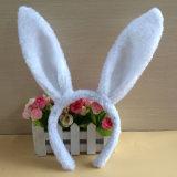 Venda promocional del pelo del conejo de la felpa de la venda principal del partido