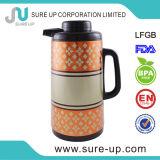 Matraz interno del acero inoxidable del agua del café de cristal de la impresión de la flor (JGBD)