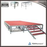 Estágio em madeira ajustável portátil de alumínio Risers de plataforma