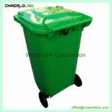 Plastica esterna 240 L scomparto del Wheelie di rifiuti diritto