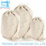 卸し売り綿織物のドローストリング袋、綿のドローストリングの収塵袋、綿のドローストリングの袋