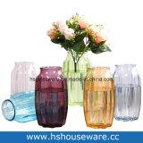 De achthoekige Veelkleurige Vaas van het Glas