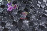 Hielo Negro-agrietado vidrio cristalino del mosaico (CC149)