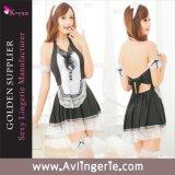 Sexy Maid костюм Backless косплей экзотические белье (КУМ0-007)