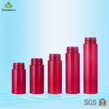 rote Pumpen-Flasche des Schaumgummi-150ml mit neuer Entwurfs-goldenem Pinsel