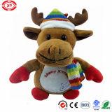 De vrolijke Pluche van de Gift van Kerstmis Amerikaanse elanden Gevulde met het Stuk speelgoed van de Kwaliteit van de Sjaal