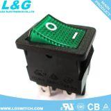 Interruptores de eje de balancín de la posición 94V0 12A250VAC del doble 2 de la potencia