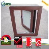에너지 절약 나무로 되는 색깔 UPVC 여닫이 창 Windows