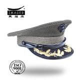 Tampão militar brilhante preto da cinta de queixo com bordado