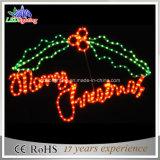 Напольный вися освещенный свет знамени письма рождества