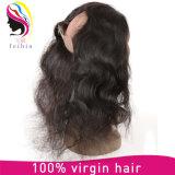 El cabello humano 100% Cuerpo Barzilian Wave 360 Cierre de la Virgen Hiar encaje