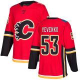 53 Oleg Yevenko가 싸게 2018명의 새로운 상표 광고 Mens 여자의 아이에 의하여 Calgary 26의 마이클 돌 73 Clifford Watson Juuso Valimaki 빨간 주문 하키 Jerseys 타오른다