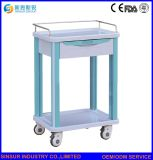Hospital de Emergencia Muebles de tratamiento médico de ABS Carrito de compras