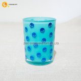 Chiavetta colorata di vetro bevente di Crackle con il coperchio