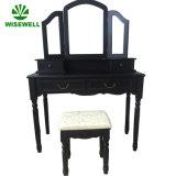 Mobília clássica ajustada da tabela de limpeza do abanador do espelho de 3 dobras (W-HY-015)