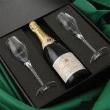 Caixa de empacotamento de dobramento do vinho da classe com fechamento magnético