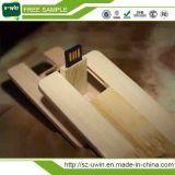 De madera masiva de madera logotipo grabado 2GB USB Flash Drive