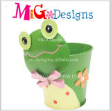 Item de jardim Flower Pot Metal Pig Planter Wholesale