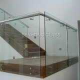 Trilhos de vidro Tempered endurecidos de Frameless