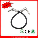 "6.35mm 1/4 ""Mono Guitarra Efecto Pedal Board Patch Cable"