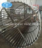 Congelatore a spirale Frozen dell'impianto di lavorazione di surgelamento del filetto di pesce del congelatore di IQF