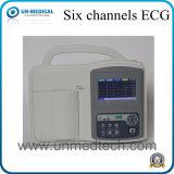 解釈機能の病院の使用6チャネルECG機械