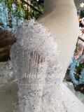 Обычная кружева Русалки Strapless Aolanes свадебные платья 110645