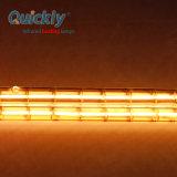 Quartzo de ondas curtas de tubo duplo lâmpadas de aquecimento por infravermelhos para sistema de Solda seletiva