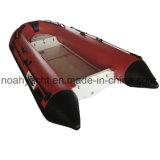 Barca gonfiabile del piccolo di FRP della nervatura guscio della vetroresina V